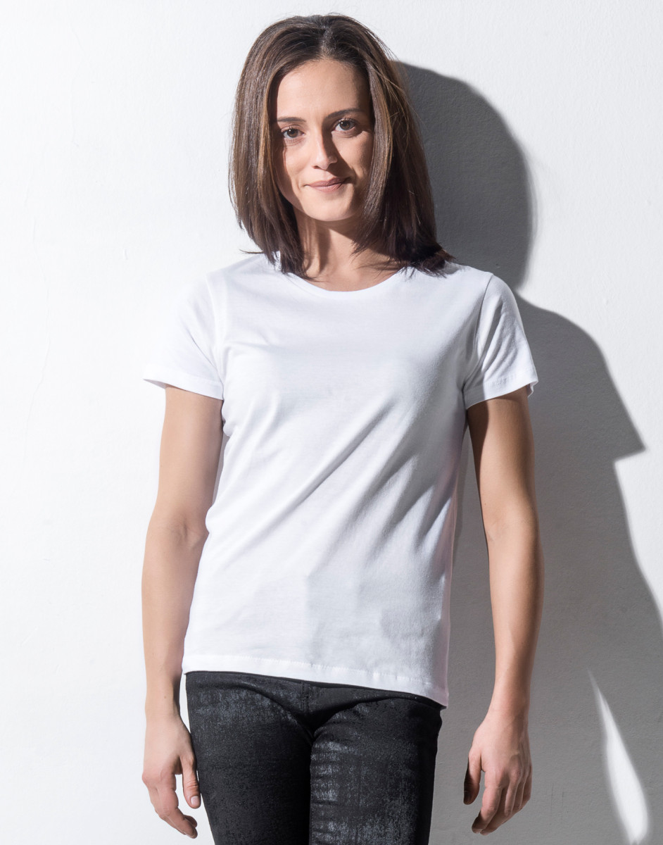 Nakedshirt Womens Fitted Crew Neck Tee T King Associates