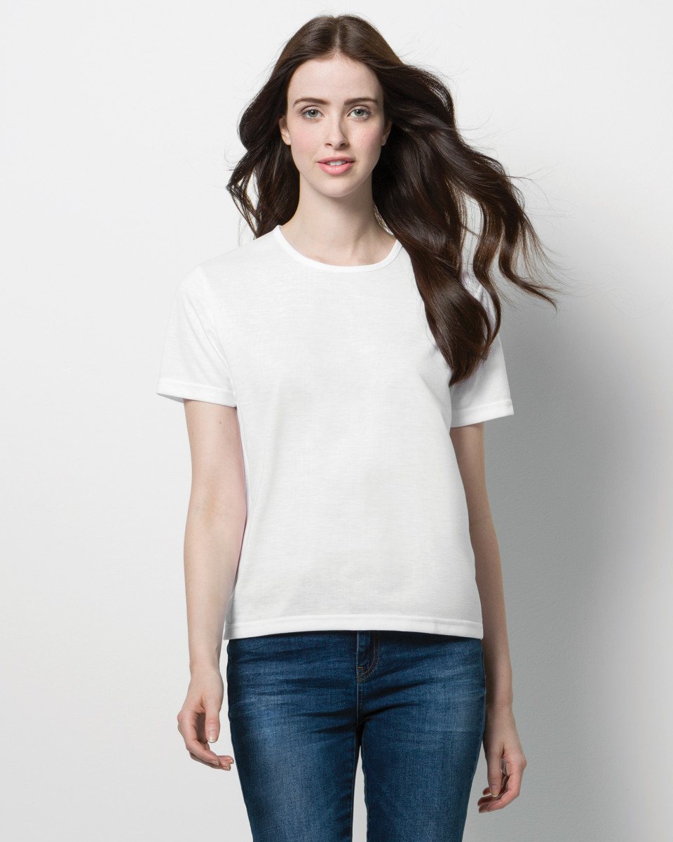 Women 39 s short sleeve subli plus round neck t shirt t for Round neck t shirts for ladies