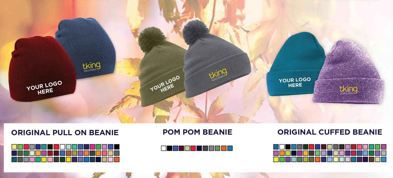 Personalised Beanie Hats With Embroidered Logo