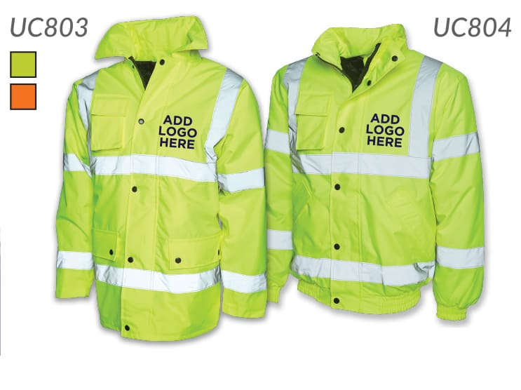 High Vis Jackets with Logo Personalisation