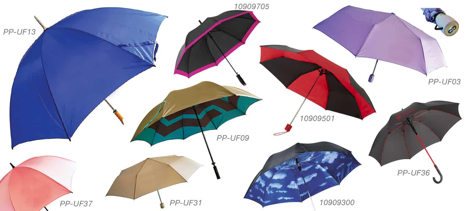 Wide selection of styles and colours of Umbrella