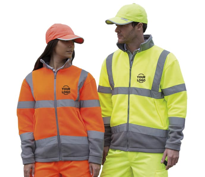 Hi Vis Fleece With P:ersonalised Embroidered Logo