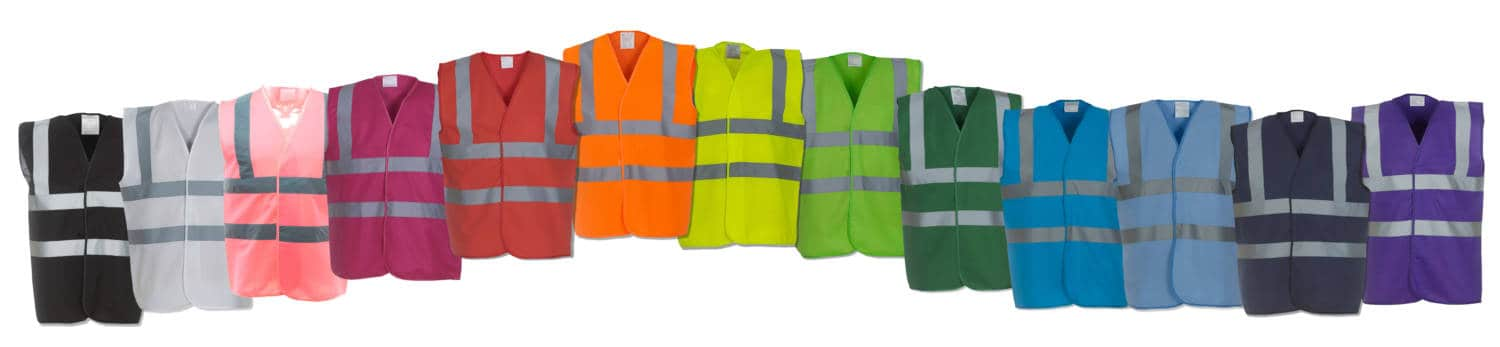 Rainbow Selection of Hi Vis Vest Colours