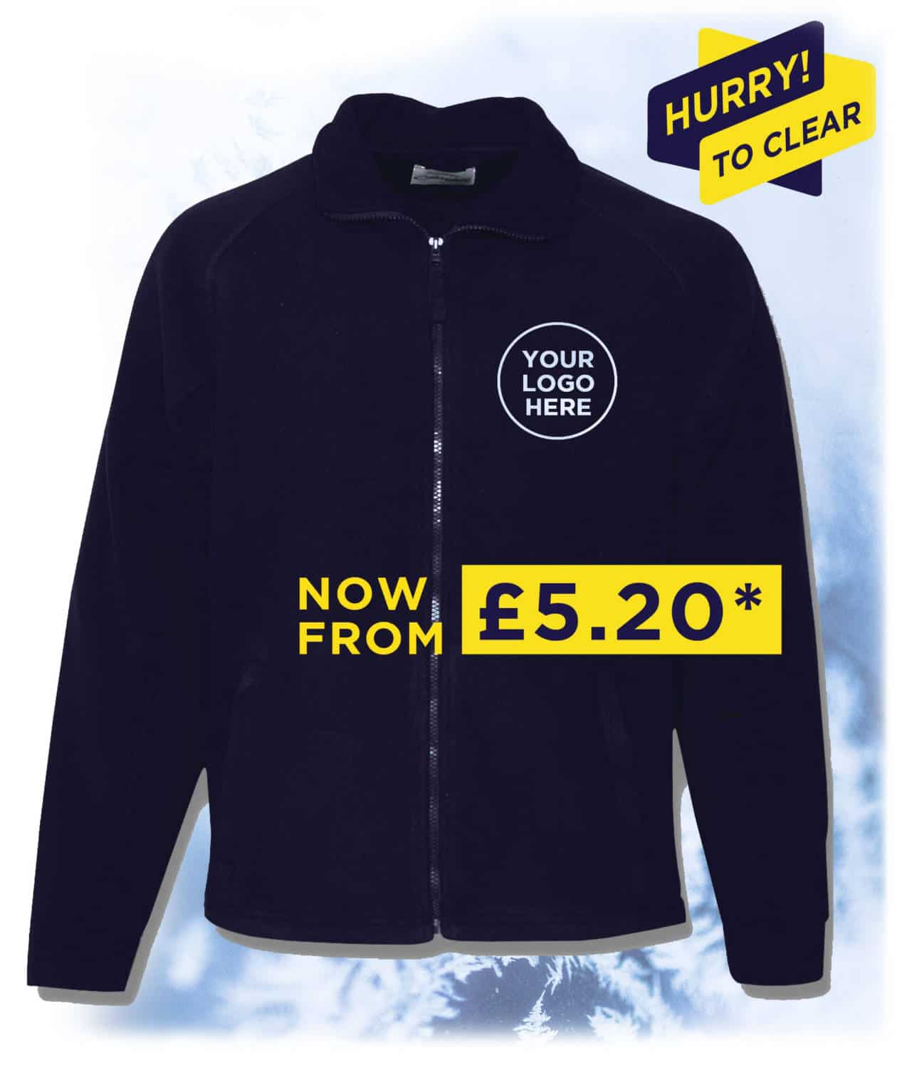 Fleece with embroiderd logo detail, special price £5.20