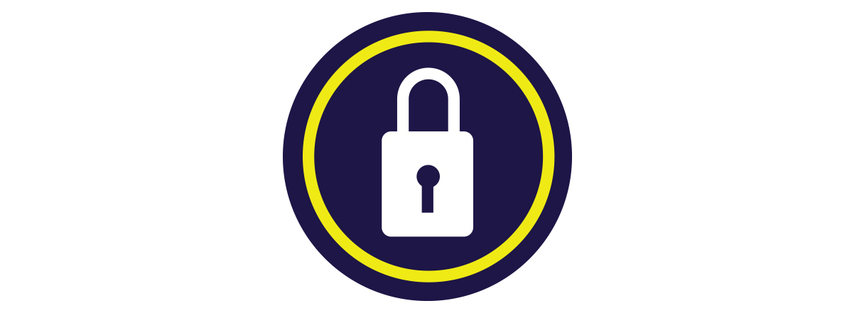 Secure Online Ordering Padlock Icon
