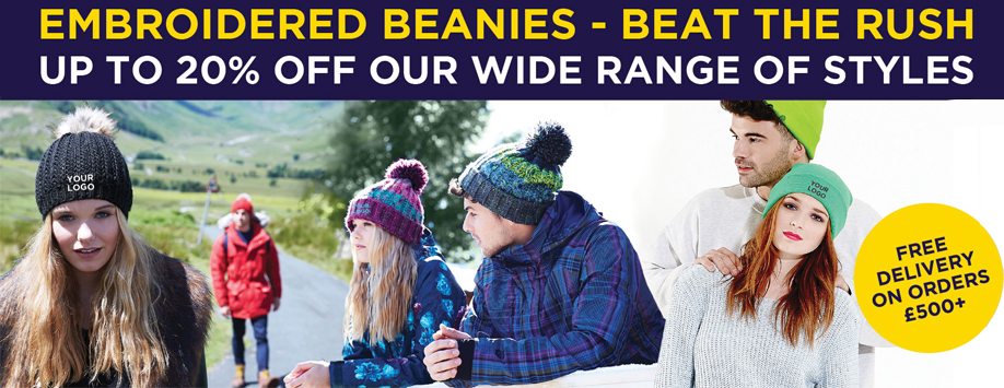20% off our wide selection of beanies