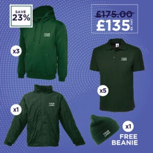 Hoodies, Polo Shirts, Fleece Lined Jacket and Beanie Hat
