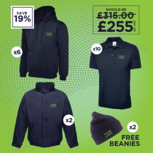 Hoodies, Fleece Lined Jackets, Polo Shirts and Beanie Hats Deal