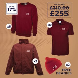 Sweatshirts, Polo Shirts, Fleece Lined Jackets and Beanie Deal