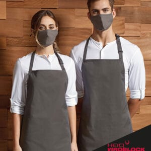 waiting staff wearing antimicrobial masks